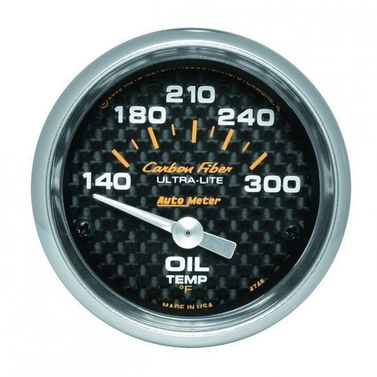 "SALE AUTOMETER ULTRA LITE ELECTRIC OIL TEMPERATURE 140-300 F GAUGE 2 1//16/"" 52mm"