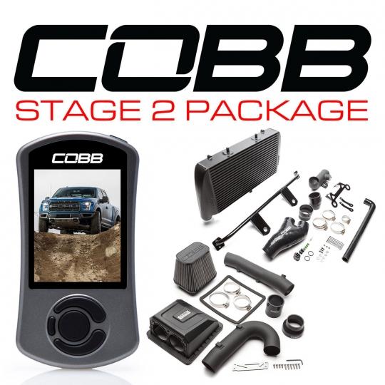 COBB Stage 2 Power Package w/ Black Intercooler, '17-'18 F-150 Raptor