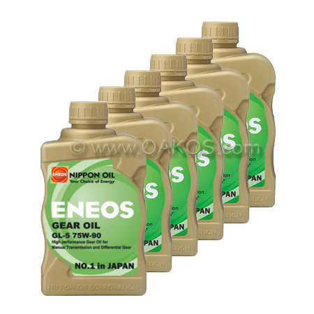 Eneos 75W90 Gear Oil (Case / 6 Quarts)