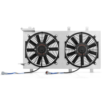 mishimoto aluminum fan shroud kit plug n play polished. Black Bedroom Furniture Sets. Home Design Ideas