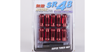 """Muteki """"SR48"""" Open End Lugs (12x1.25, Red)"""