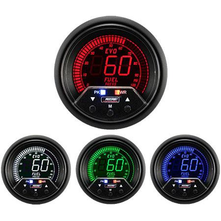 Prosport Premium EVO Fuel Pressure (60mm, 4 Color, Peak/Warn)