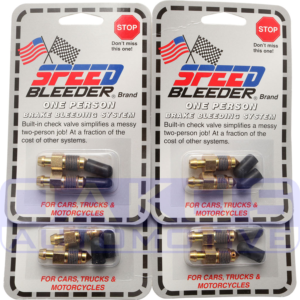 8x Stainless Steel Bleed Screws and 8x Brembo Dust Caps For Subaru STI Calipers