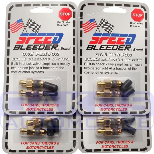 Speed Bleeder Brake Bleeder Screws (10mm Short, Set/8), 2004-2019 STi