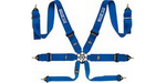 "Sparco 6-Point Snap-in, Pull Down Release Belt (3""Lap, 3"" Shoulder), Blue"