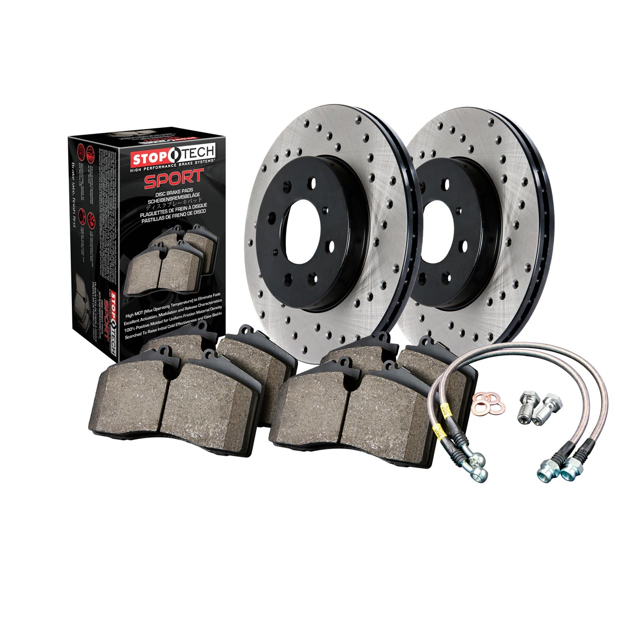 Front /& Rear StopTech Drilled Slotted Brake Rotors Kit for Subaru BRZ Impreza