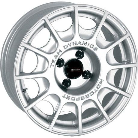 team dynamics pro rally 1 wheels 15x6 40mm 5x100 set 4 silver 2000 Ford Mustang Roush